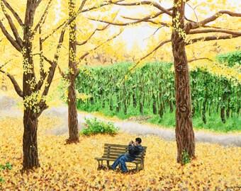 Fine Art Print Greeting Card - Shawn at Showa Park