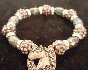 Stretch western bracelet