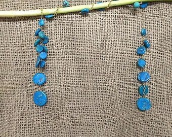 Open End Turquoise Stone with GoldFilled chain