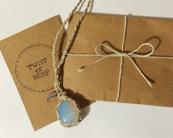 Opalite Hemp Necklace
