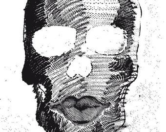 FOSCA-BLACK SKULLIT Printed version