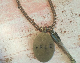 Hand Stamped FREE Necklace