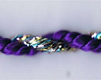 "144 Yard Spool of 3/16"" Purple & Metallic Rainbow Twist Cord"