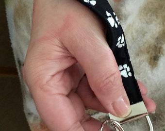 Paw Print Key Fob with Clasp