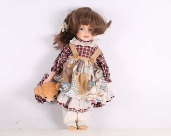 Vintage Old German Made Porcelain Doll.