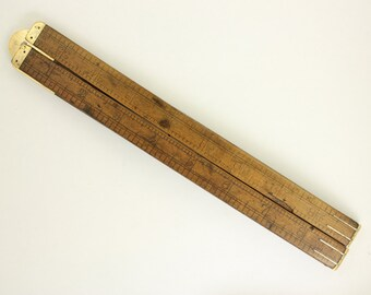 Antique Measuring Stick from England with Brass Hinges- 1920's/30's- For the Dandy Handyman