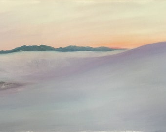 White Sands Dunes In Evening