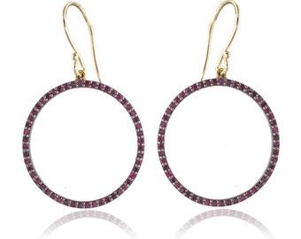 92.5 Silver Ruby gemstone  handmade Drop and dangle earring gemstone earrings