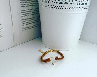 Bracelet suedine Cameliange camel gold