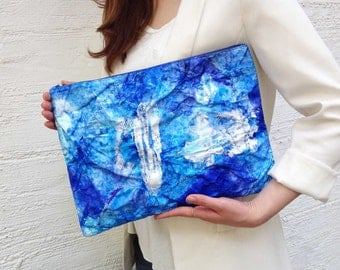 blue clutch/tyvek/unique bag