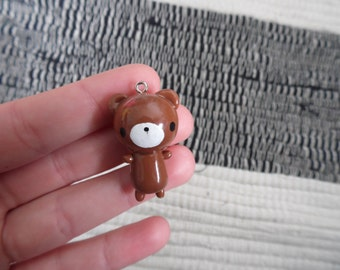 Kawaii bear - Polymer clay charm-