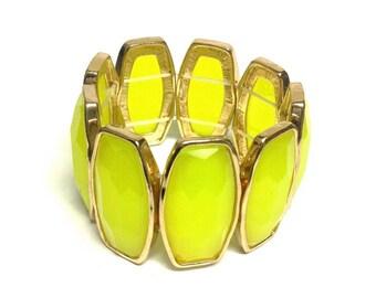 Yellow-Green Neon Cuff Bracelet