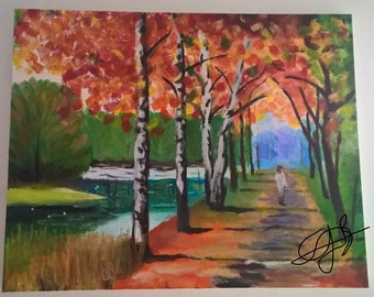 Painting: a walk through the forest (2015)