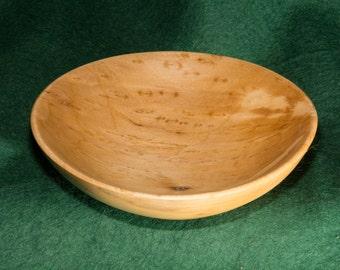 Wooden Sycamore Bowl, Birdseye, handmade no 75