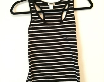 minimalist striped tank size M