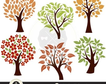 Tree Clip Art,diy family tree clipart, tree clipart,digital download