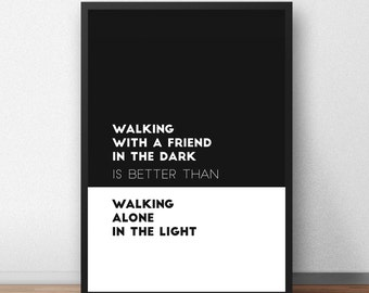 Friendship quote | Printable Art. Quote print. Digital Print. Typography. Wall Art. Poster. Instant Download.