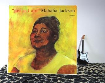 """Mahalia Jackson - """"just as I am"""", vintage LP"""