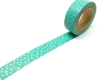 Teal snow dots washi tape