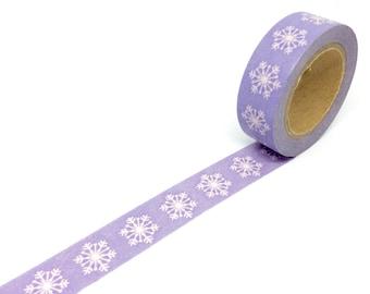 Purple Snowflake Washi tape