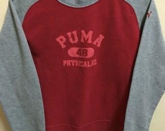 Vintage 90's Puma Sport Classic Design Skate Sweat Shirt Sweater Varsity Jacket Size L #A405
