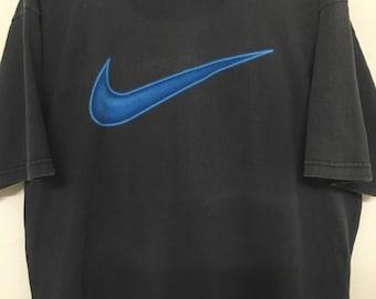 Vintage 90's Nike Blue Logo Usa Design Shirt Size M #B13