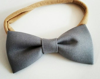 Emmy bow- Gray