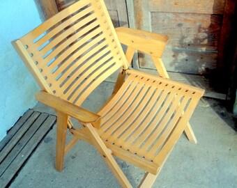 Folding Rex chair  / made in Yugoslavia / 50's / Niko Kralj / Stol Kamnik