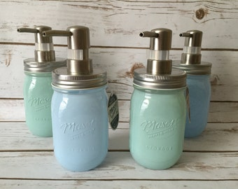 Mason Jar soap dispenser, The Coastal Collection***Mason Jar*** soap dispensers!! Perfect for kitchen decor.  Fully customizable
