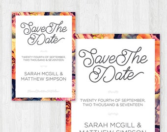 Floral Wedding Save The Date (Printable)