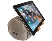 Crisp Khaki - The eZView Tablet Bolster - Made in USA - Eco-Friendly - Easy Hands-Free Viewing - Perfect iPad Pillow Stand for Bed, Sofa