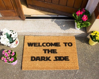 Welcome to the Dark Side Doormat - Made in the UK - Star Wars theme
