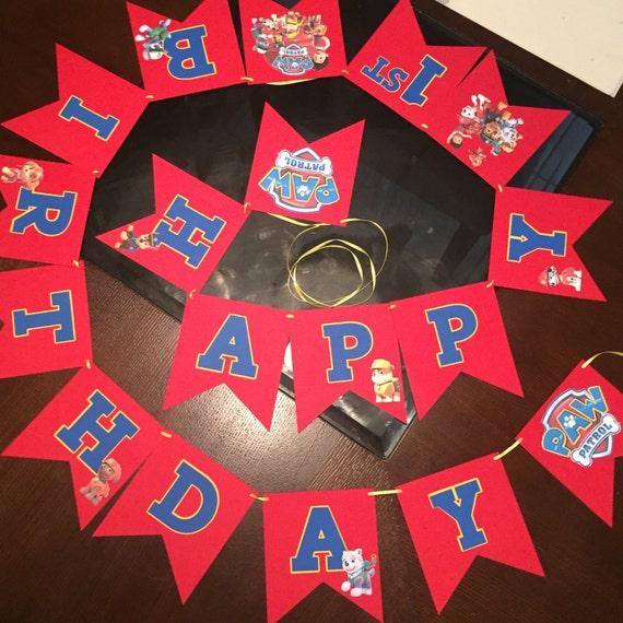 Paw Patrol Banner Birthday/Party Banner