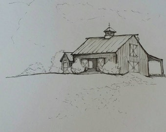Old Barn Sketch