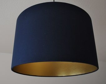 "Lampshade ""Gold-Navy"""