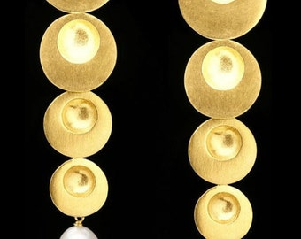 Gold Plated Earring Drop