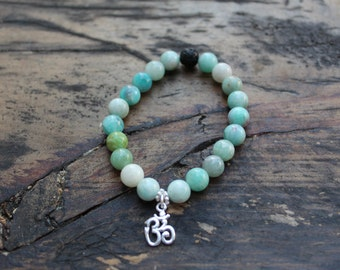 The Om and Amazonite Bracelet