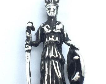 Goddess Athena Charm for Bracelet .925 Sterling Silver