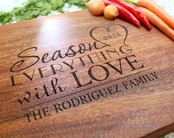 Personalized Cutting Board - Engraved Cutting Board, Custom Cutting Board, Wedding Gift, Housewarming Gift, Anniversary Gift, W-032 GB
