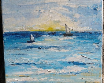small oil paintings, original oil painting on canvas ready to hang up, impressionistic art