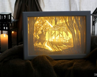 """Lightbox """"Meeting in the forest"""""""
