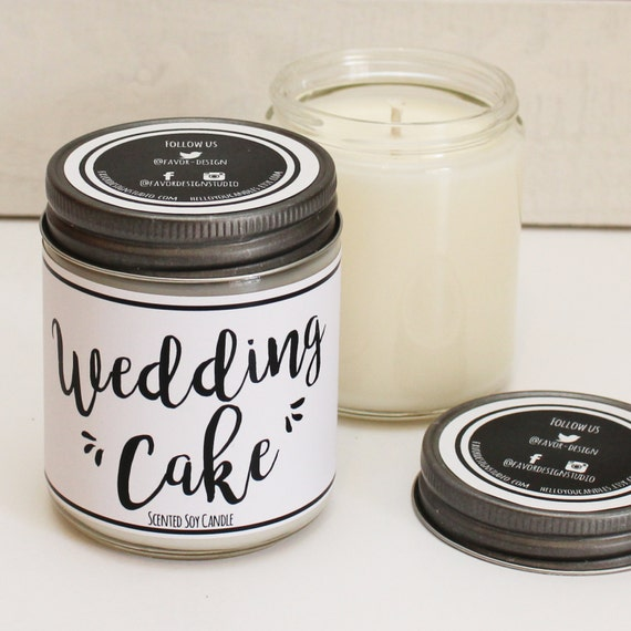 wedding cake scented candle wedding cake scented candle 8 oz candle gift unique 24031