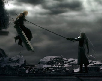 Final Fantasy VII Cloud vs. Sephiroth Poster