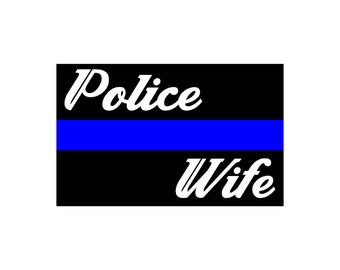 Thin Blue Line Police Wife Flag