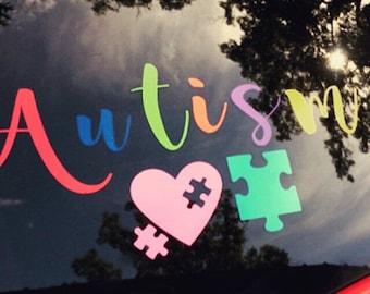 Autism Decal - Autism awareness- support autism - autism car decal - autism window decal - Autism