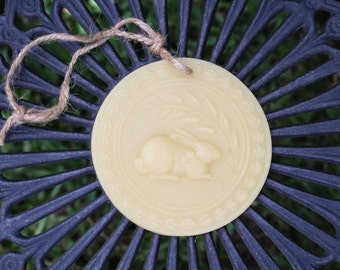 Rabbit-100% Pure Honey Bees Wax Hand-Poured Ornament