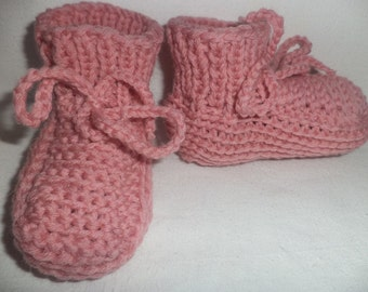 Baby shoes knit 74/80 wool wool shoes baby
