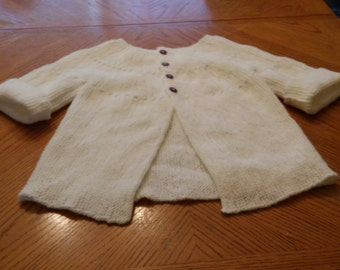 girls white swing cardigan