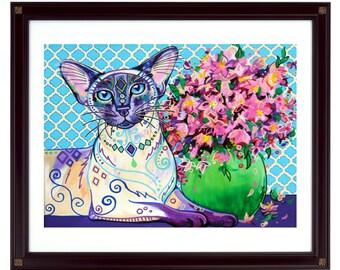 Cat art print - Orient