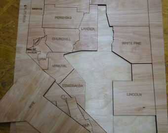 Nevada State Counties Puzzle
